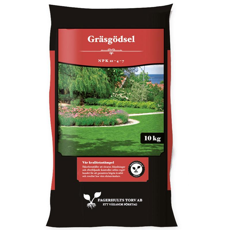 Gräsmattegödsel 10kg, för en frisk gräsmatta utan mossa