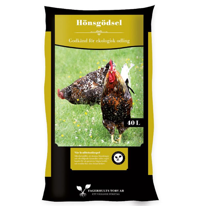 Hönsgödsel 40 L. Ett allsidigt gödselmedel från frigående höns