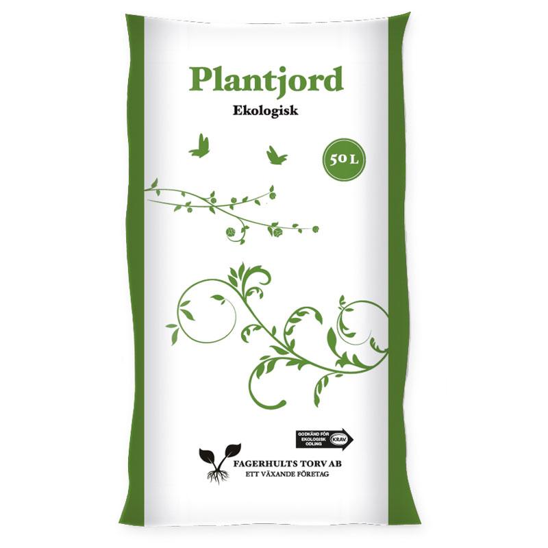 Plantjord KRAV, 50 L, för plantering och jordförbättring