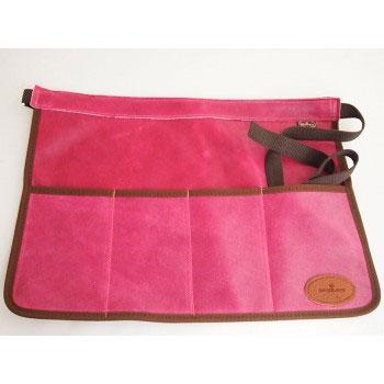 Skinnförkläde/trädgårdsbälte - rosa, Skinnförkläde för trädgården, rosa-cerise