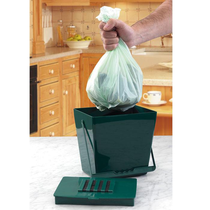 Biologiskt nedbrytbar påse till Compost Caddy Mini - 5 liter, Nedbrytbar påst till komposthinken Compost Caddy