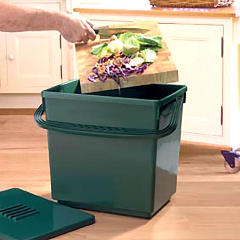 Jumbo Compost Caddy - komposthink, 30 liter, Jumbo Compost Caddy - Luktfri Komposthink med kolfilter