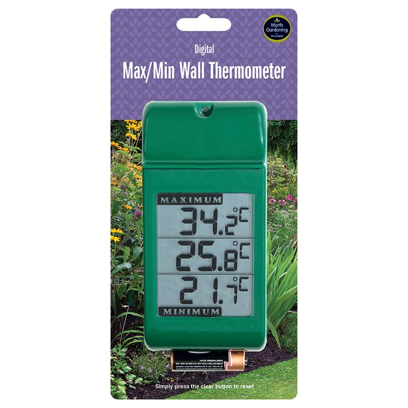 Digital väggtermometer med tre olika mätningar