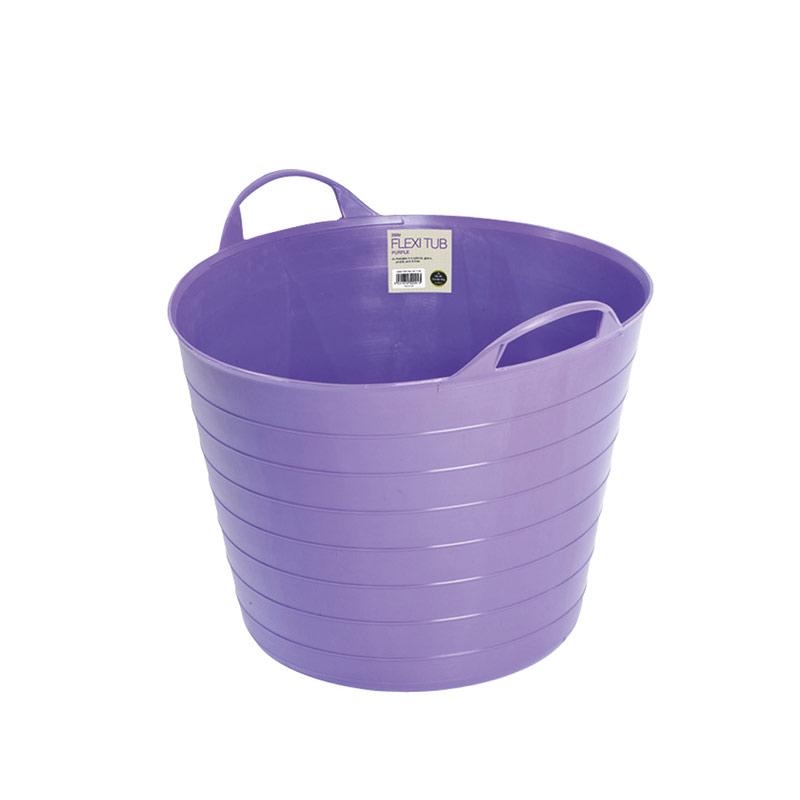Mjuk hink Flexi Tub , 26 liter, lila. Perfekt för trägården