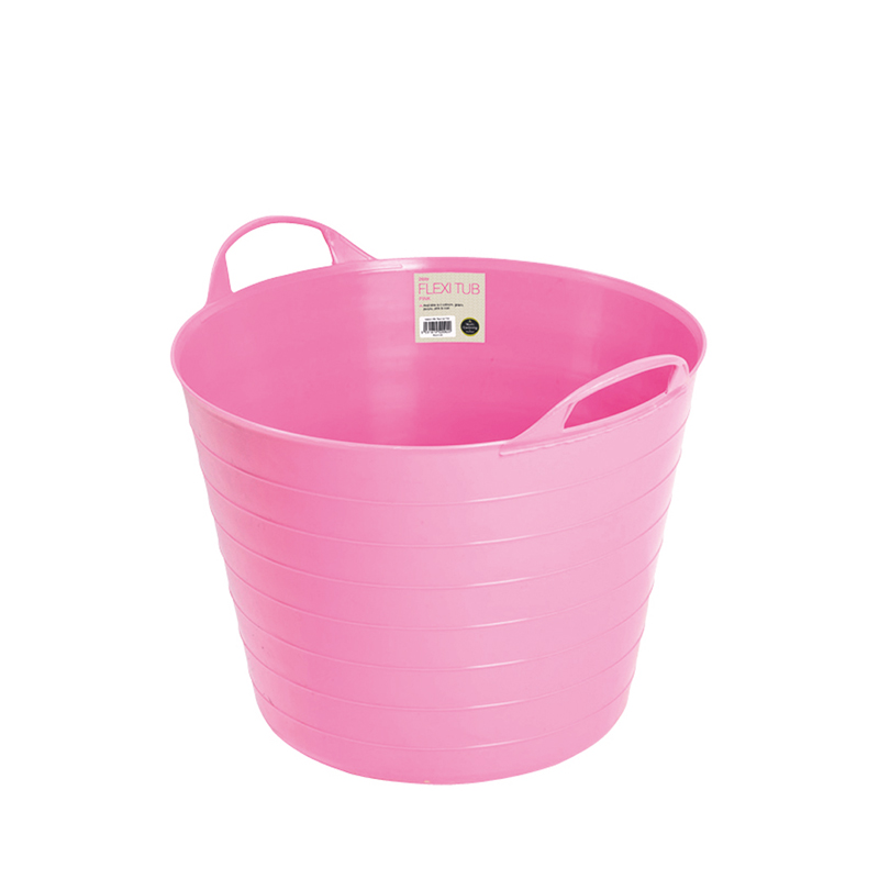 Mjuk hink Flexi Tub , 26 liter, rosa. Perfekt för trägården