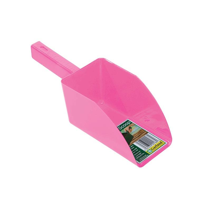 Jordskopa - Garden scoop - rosa, Jordskopa i återfunnen plast
