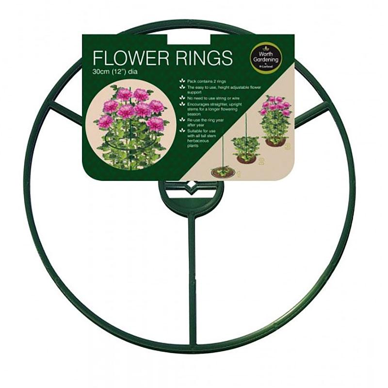 Växtstöd ring, 30 cm, 2-pack
