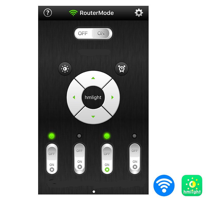 Gateway till hmlight app för Flat Tube Grow-Gateway till app som styr växtbelysning