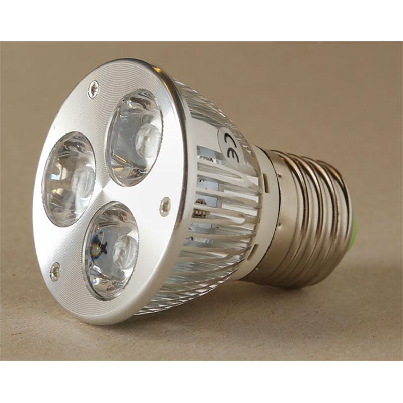 LED-lampa Growspot 4W E27-sockel röd/vit, LED-lampa för växter