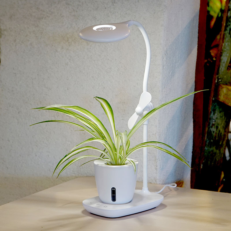 Växtlampa och läslampa i en.