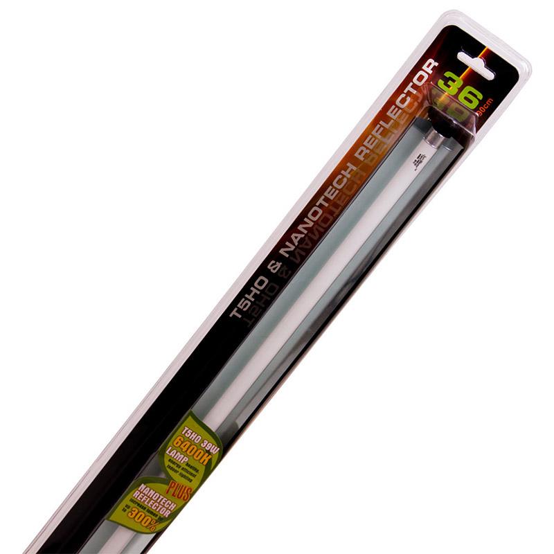 Växtlampa T5 med reflektor, Sunblaster Combo, 39 watt-Växtlysrör Sunblaster T5HO med NanoTech reflektor, 39 watt