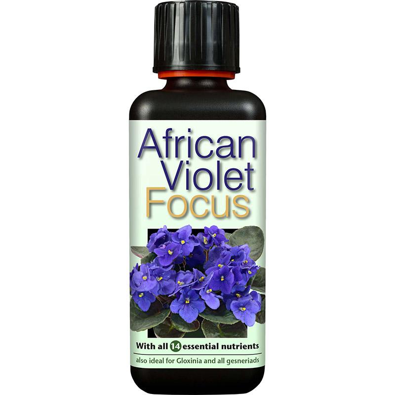 African Violet Focus - Näring för St Paulia mfl, 300ml, Specialnäring för St Paulia och övriga Gesneriaceae-släktingar