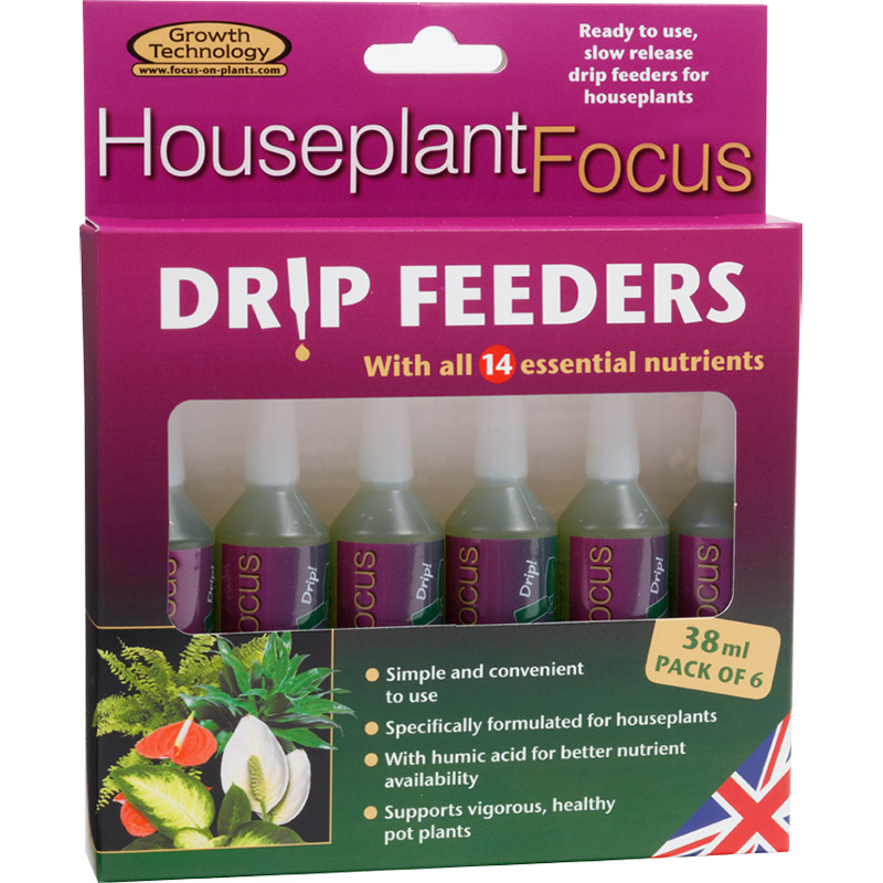 6-pack Krukväxtnäring i droppform, Houseplant Focus Drip Feeders