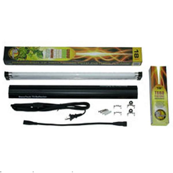 Växtlampa T5, 17 watt med reflektor, Sunblaster Combo-Växtlysrör Sunblaster T5HO med NanoTech reflektor, 17 watt