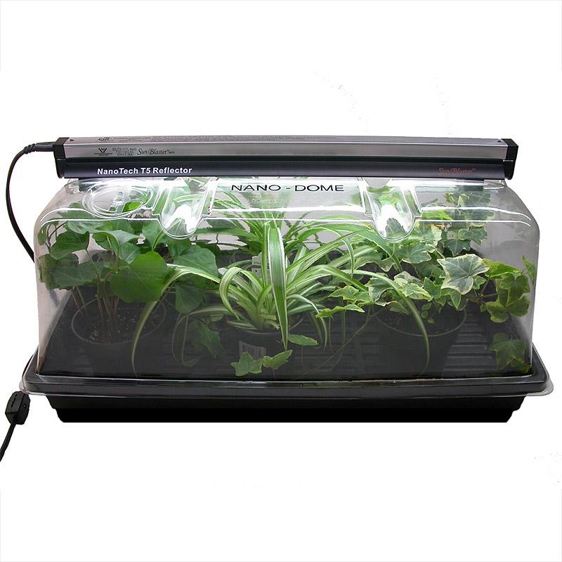 NanoDome - växthus med lamphållare, NanoDome miniodlingshus