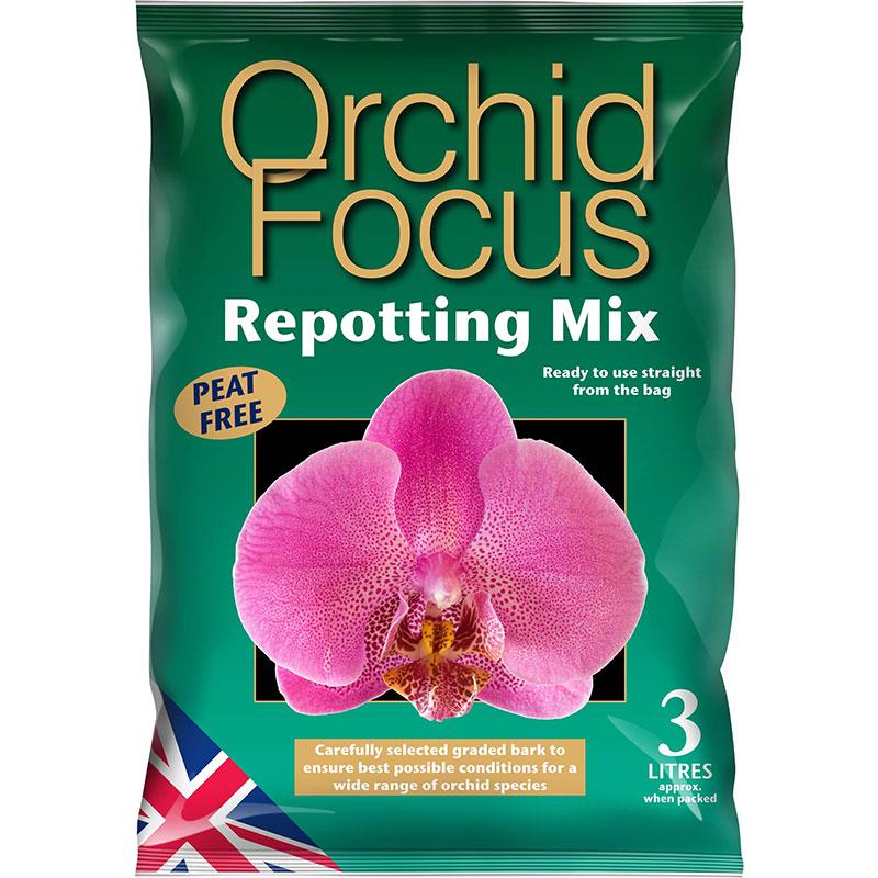 Orchid Focus Medium - orkidéjord , 3L, Orkidejord med kokosfiber och komposterad bark