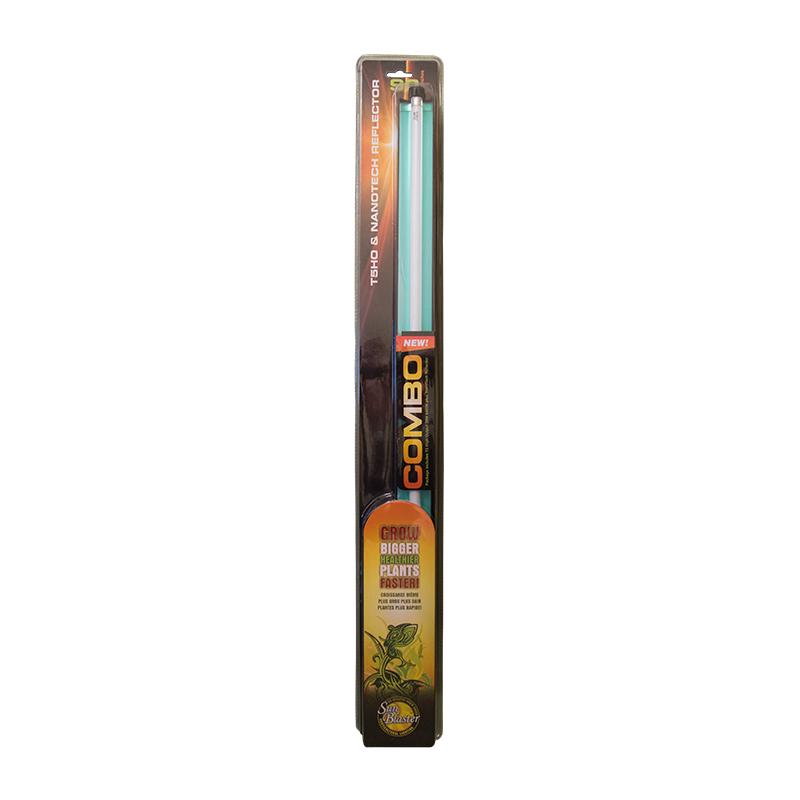 Växtlampa T5, 39 watt med reflektor, Sunblaster Combo, Växtlysrör Sunblaster T5HO med NanoTech reflektor, 39 watt
