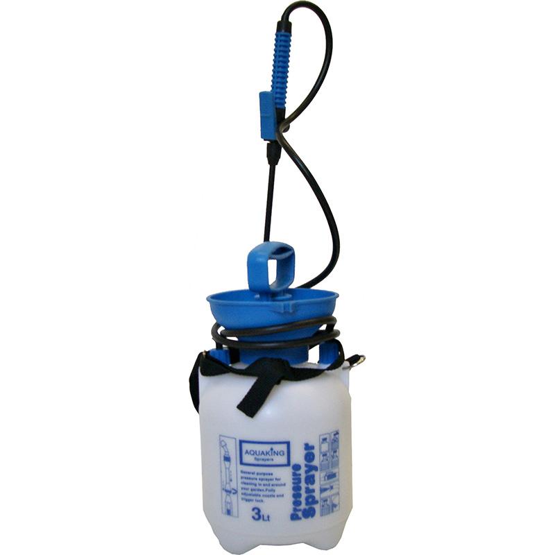 Tryckspruta Aquaking 3 Liter, Sprayflaska med tryck för trädgården