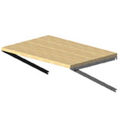 Trähylla för trädgårdslider, 60 cm djup,