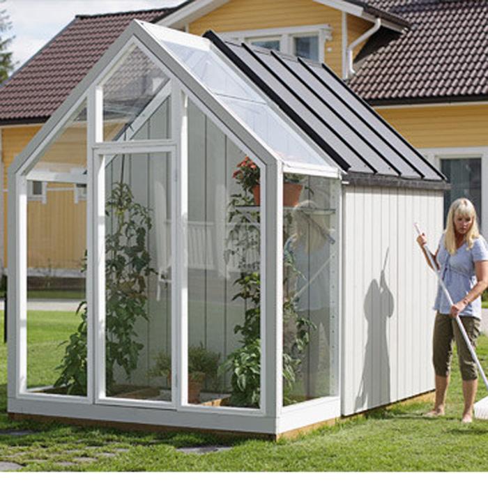 Trädgårdslider - Iver-Växthus trädgårdslider Iver från Hasselfors