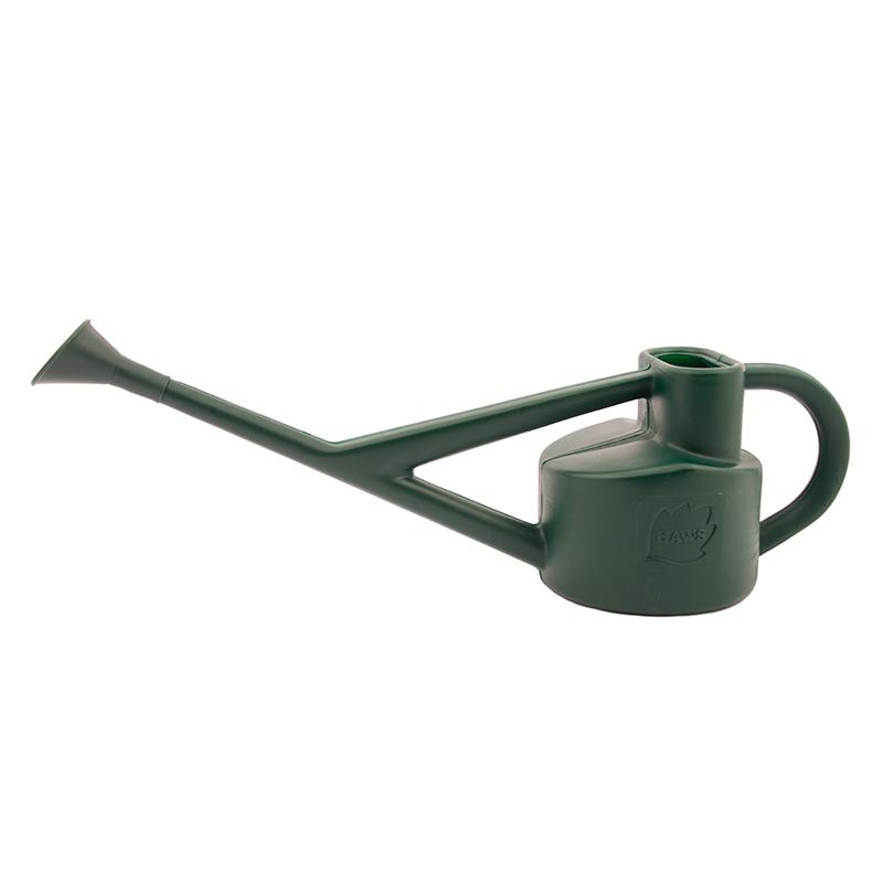 Conservatory, blåsgjuten plastkanna med mässingstril, grön, 2,25 liter