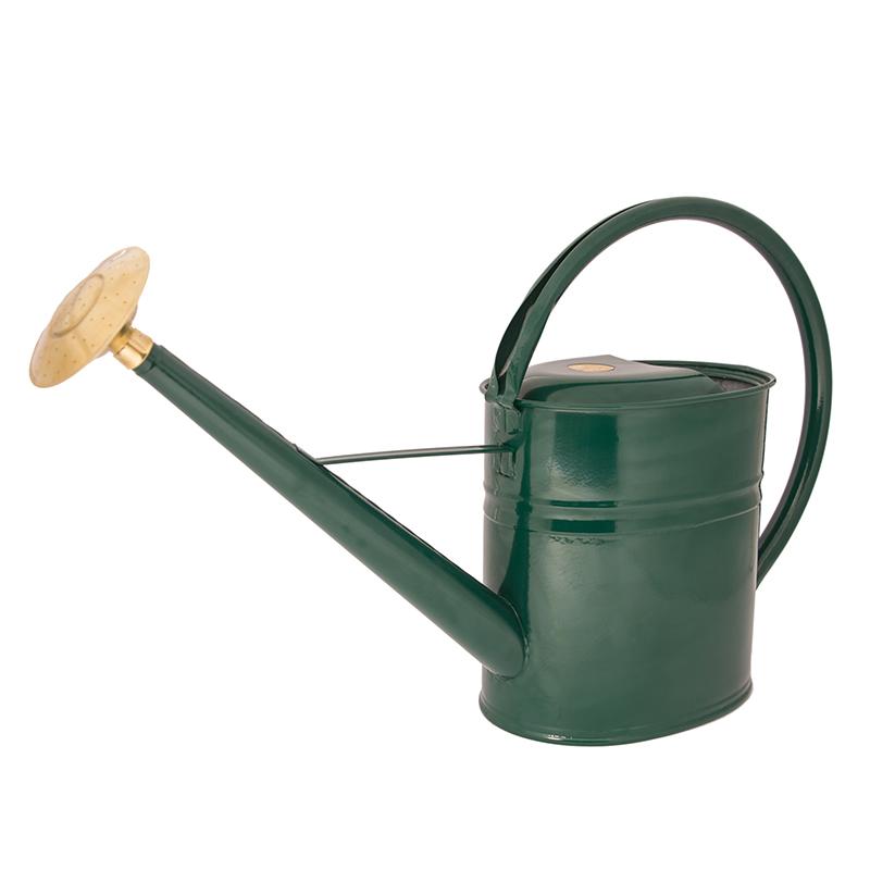Vattenkanna i smal ergonomisk design, grön, 8 liter