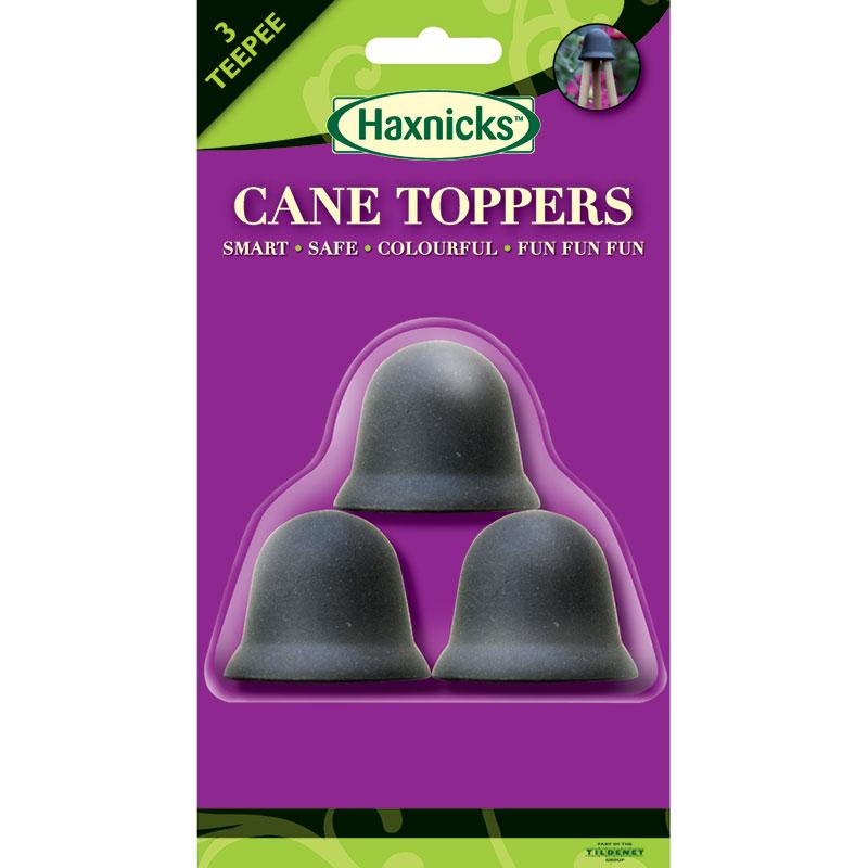 3-CaneToppers, pyramidväxtstöd, svart