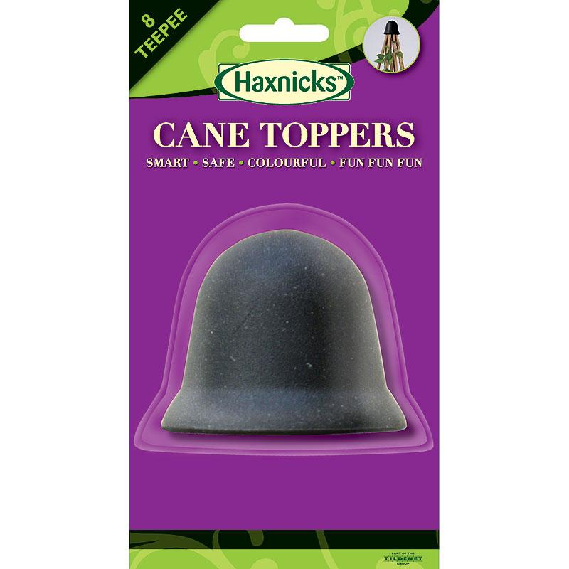 8-CaneToppers, växtstöd, svart