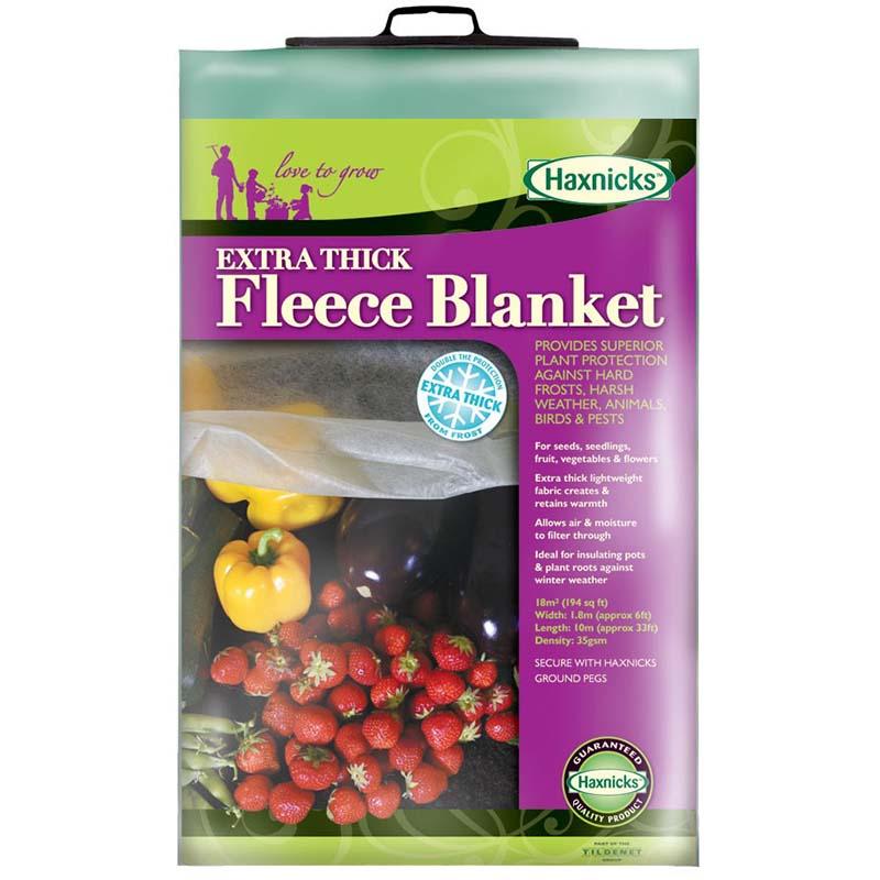 Extra tjock fiberduk - Fleece blanket, Fiberduk för täckning och skydd av växter