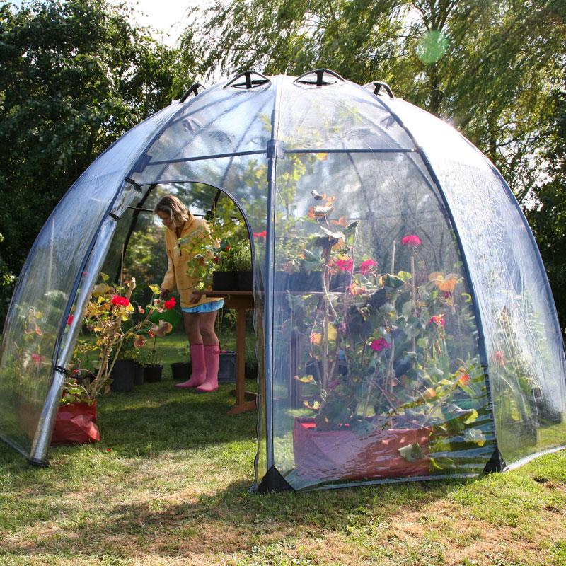 Växthus Sunbubble, Large-uppfällbart växthus för odling