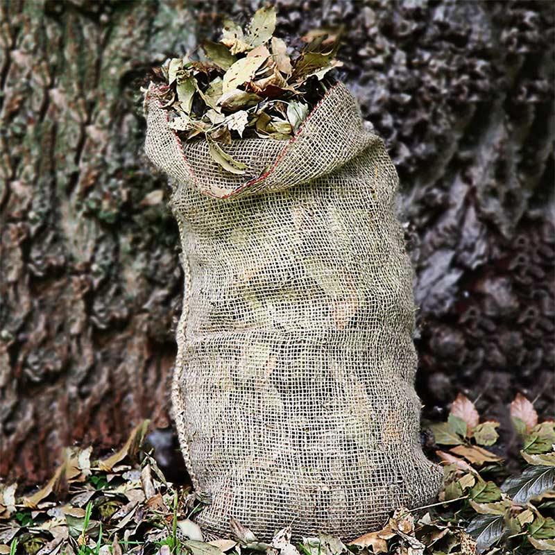 Säck för kompostering av löv