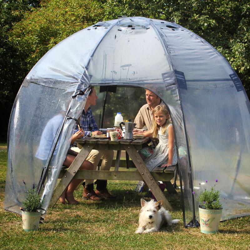 Växthus Sunbubble, Standard, Sunbubble uppfällbart växthus för odling