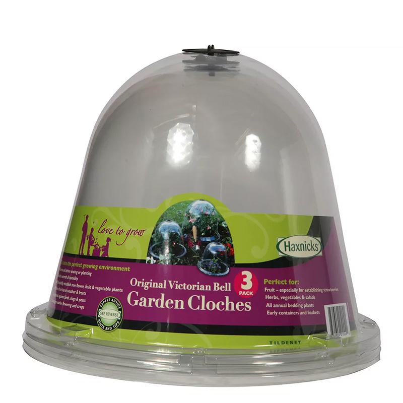 Miniväxthus/odlingsklocka Original Victorian bell, 3-pack