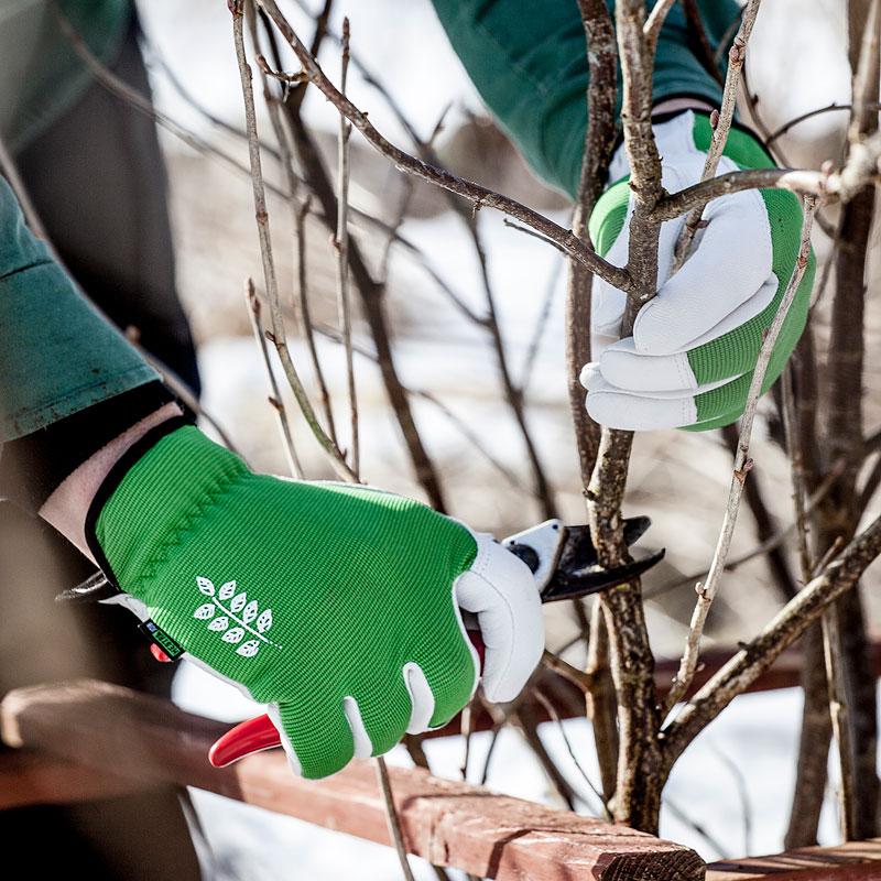 Handske Garden short, grön/grå - strl 7,