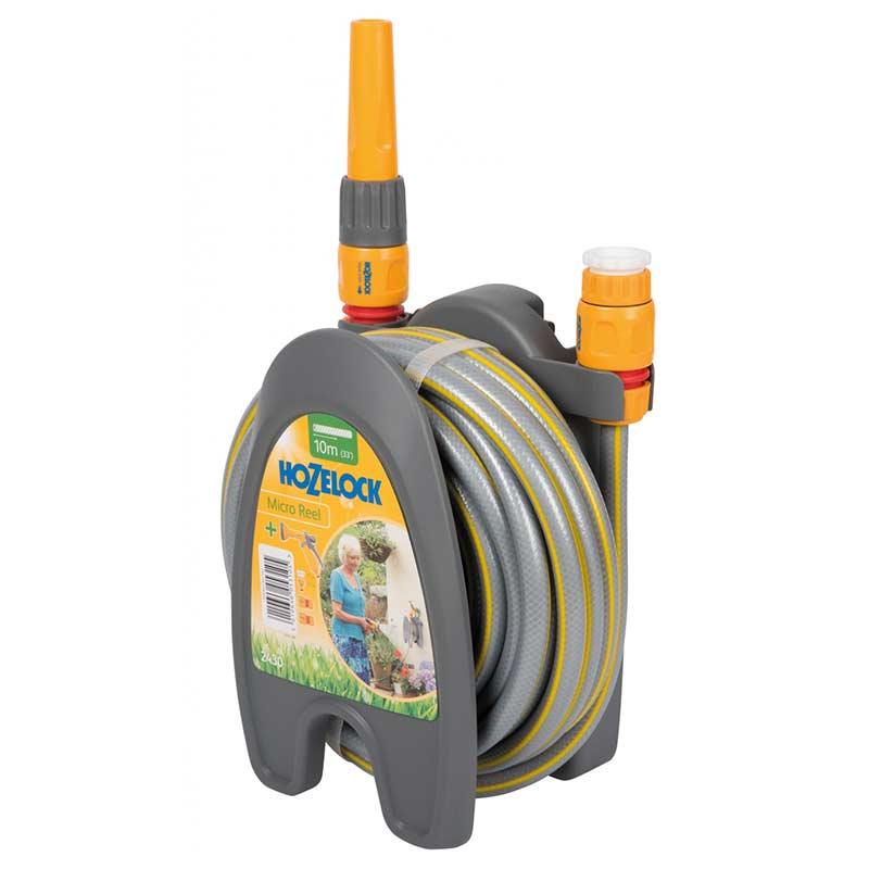 Slangset Micro Reel 10m slang m hållare, koppl & munst
