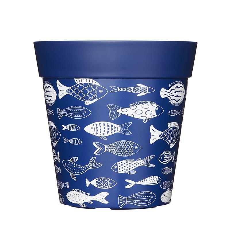Kruka med fiskemotiv 5 liter