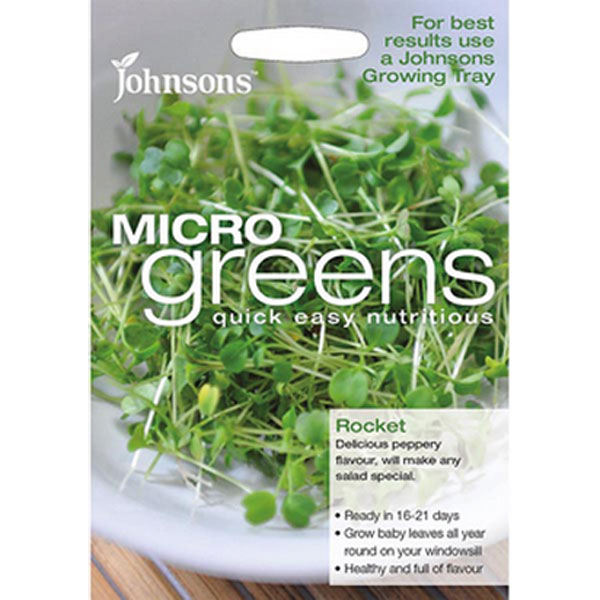 Frö till ruccola odlad som micro-sallad.