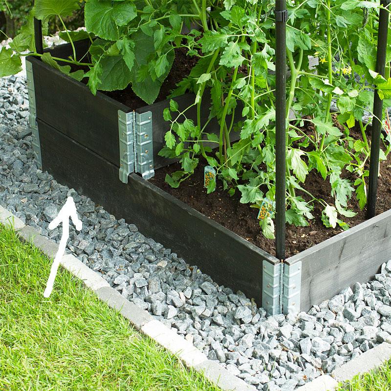 Odlingslåda pallkrage, svart 60x80cm,