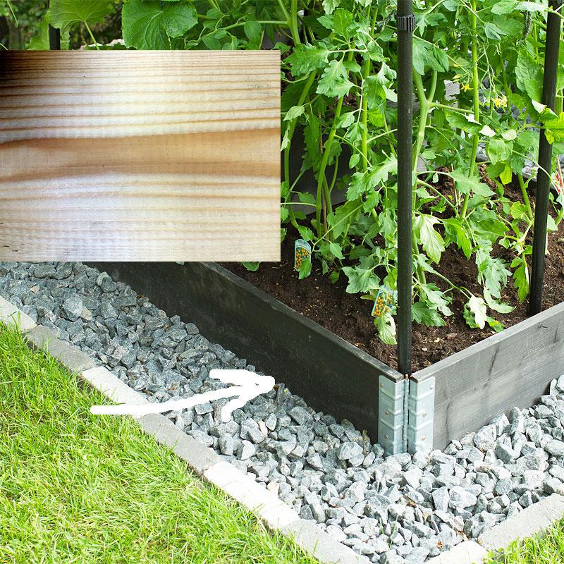 Odlingslåda pallkrage, natur 80x120cm,