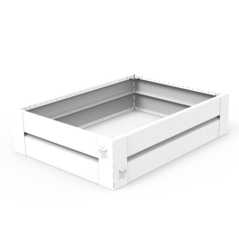 Odlingslåda i plåt, vit 60 x 80 cm - hållbar design
