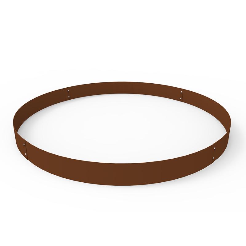 Planteringskant cirkel corten, 120x1400 mm-Planteringskant i corten 120 mm cirkel 1400 mm
