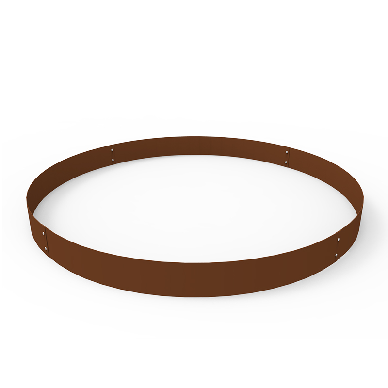 Planteringskant cirkel corten, 120x900 mm-Planteringskant i corten 120 mm cirkel 900 mm