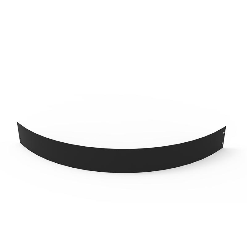 Planteringskant kvartsbåge svart, 120x1150 mm-Planteringskant i svart 120 mm kvartsbåge 1150 mm