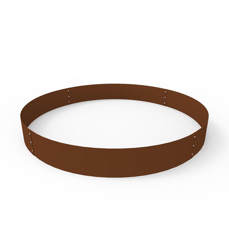 Planteringskant cirkel corten, 180x1400 mm-Planteringskant i corten 180 mm cirkel 1400 mm