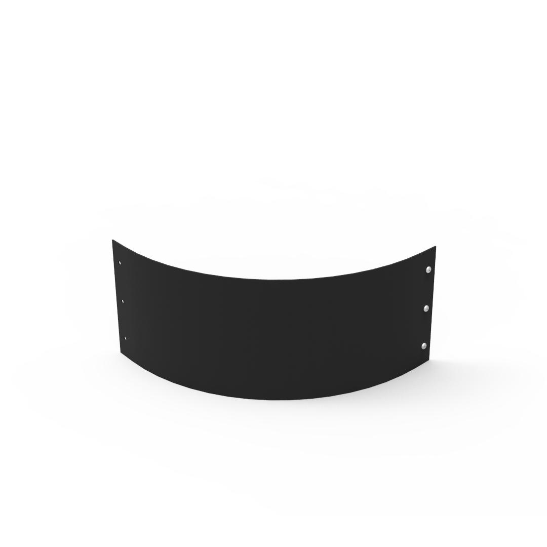 Planteringskant kvartsbåge svart, 180x500 mm-Planteringskant i svart 180 mm kvartsbåge 500 mm