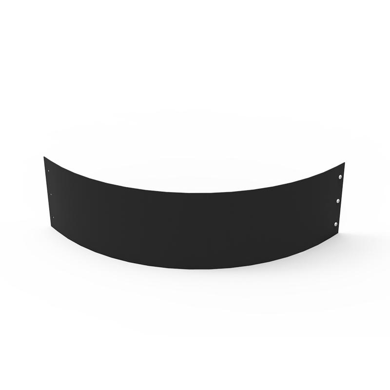 Planteringskant kvartsbåge svart, 180x750 mm, Planteringskant i svart 180 mm kvartsbåge 750 mm