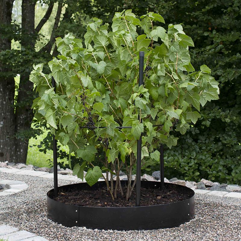 Planteringskant skarvplåt svart, 180 mm, Växtodling med cirkelformad trädgårdskant