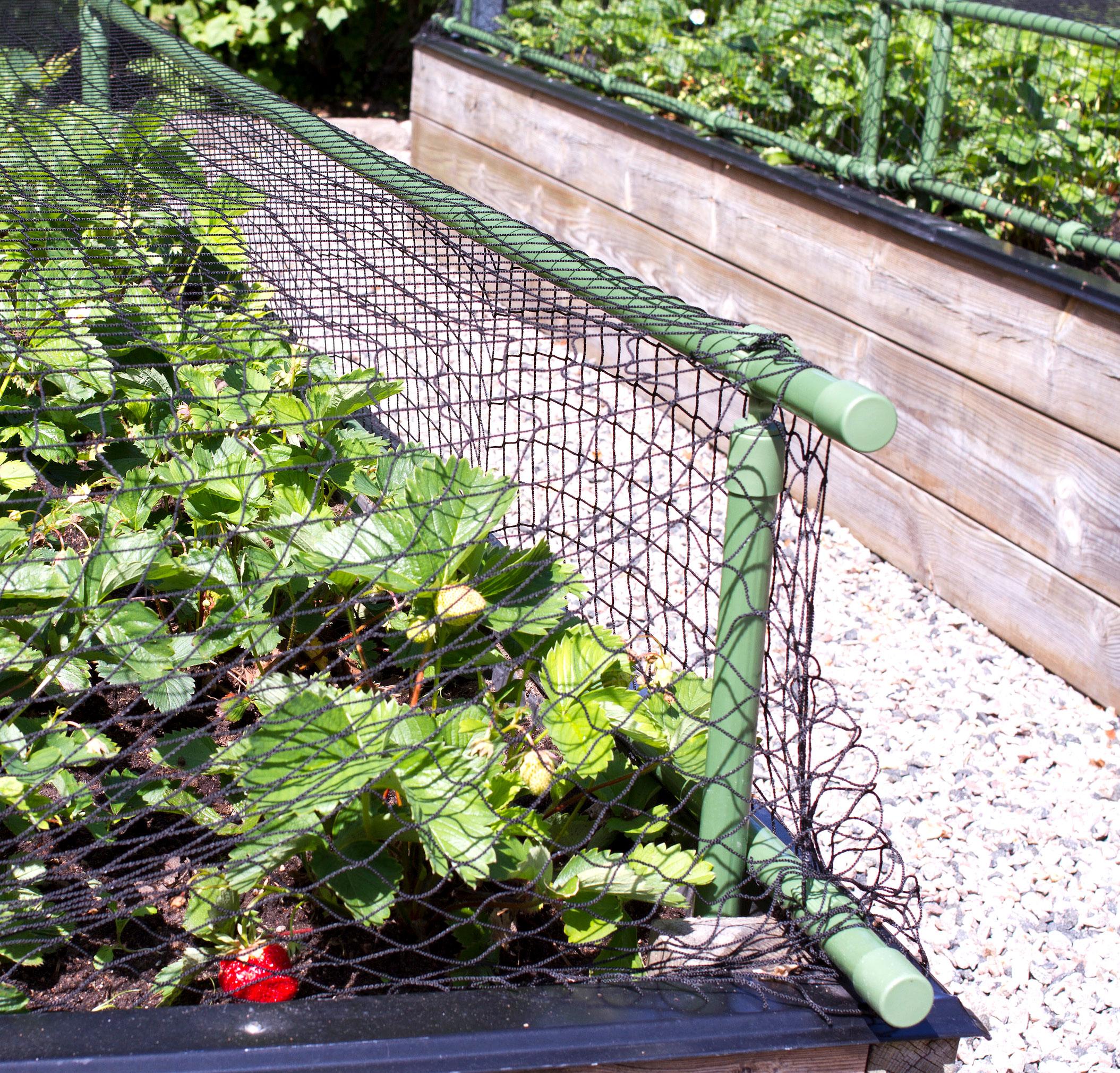 Plast- och näthöjare, grön-Stomme till växtskyddsnät