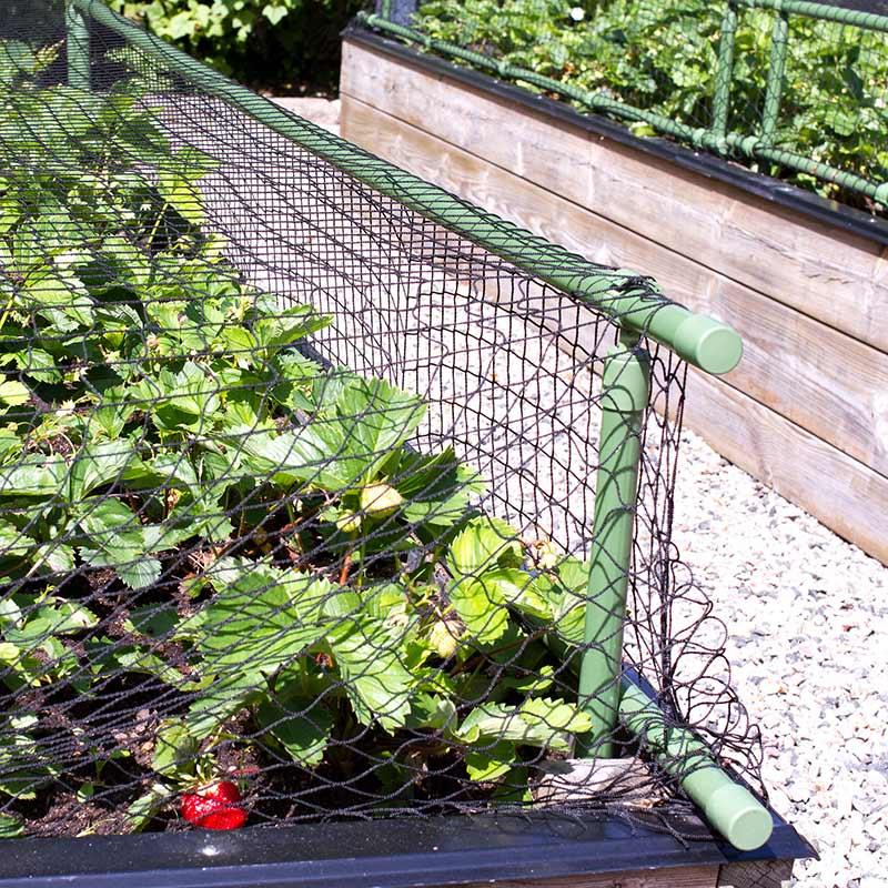 Plast- och näthöjare, grön, Stomme till växtskyddsnät