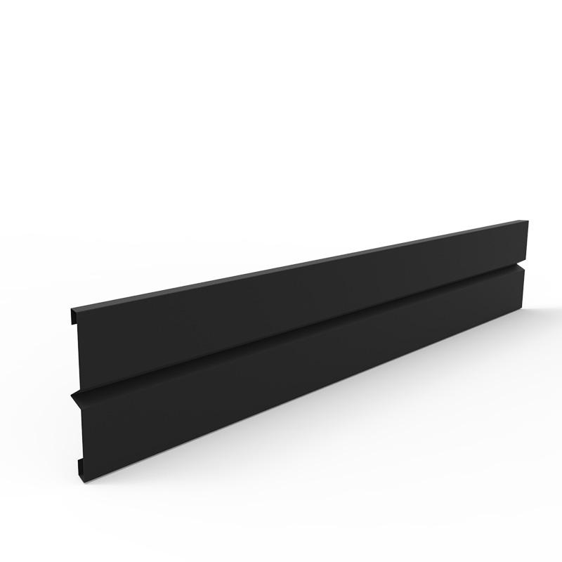 Plåtlängd för odlingslåda i svart, 20x120 cm